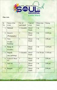 Soul schedule for elims LUC - 2