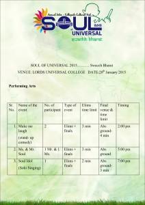 Soul schedule for elims LUC